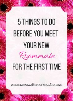 5 Things To Do Before You Meet Your New Roommate