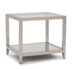 "Living room: Melrose side table from Mitchell Gold and Bob Williams.  22""w 26""d 23""h"