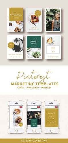 Ellen Wild is a professionally designed Pinterest marketing template of 30 unique pins made for Canva, Photoshop or InDesign. This stunning pack is great for promoting your food blog, website, eshop, online courses and more. #pinterestmarketing #pinterestpins #pinteresttemplates #canvatemplate #photoshop #ladyboss #coursecreator #ladypreneur #socialmediamarketing #bloggermarketing #foodblog #foodblogger #recipebook #cookingbook #cooking #recipepin #recipedesign Food Design, Ux Design, Food Template, Indesign Templates, Social Media Design, Page Layout, Pinterest Marketing, Brochure Design, Creative Business