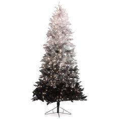 Vintage Black Ombre Spruce Pre-lit Christmas Tree by Sterling Tree... (715 RON) ❤ liked on Polyvore featuring home, home decor, holiday decorations, christmas, vintage home accessories, vintage holiday decorations, vintage home decor, black home decor and vintage holiday decor