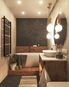 Bathroom beddesignmoder Sparkle Tips UDealing 13 Tips to Make Your Bathroom .Bathroom beddesignmoder Sparkle Tips UDealing 13 Tips to Make Your Bathroom Sparkle - UDealing - - Bathroom dark concrete gold rose copper - today Bathroom Interior Design, Interior Decorating, Decorating Bathrooms, Decorating Ideas, Bad Inspiration, Modern Bathroom, Bathroom Ideas, Wc Bathroom, Bathroom Renovations