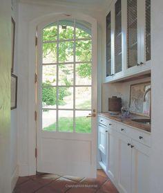 Pretty arched door