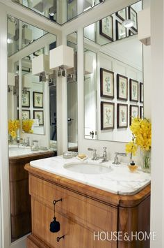 Sophisticated Powder Room   House & Home