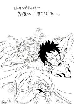 Lawsan Law x sanji Sanji One Piece, One Piece Fanart, Trafalgar Law, Zoro, Fan Art, Anime, Pictures, Photos, Cartoon Movies