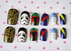 If I'm going to do nail night, I'd rather cheat and have fun for a star wars marathon night as well!