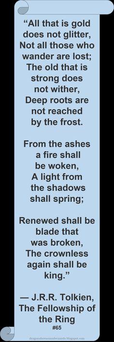 ♥ J R R Tolkien ♥ ~ #Quote #Author #FOTR