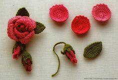 ergahandmade: Crochet Flower + Diagrams