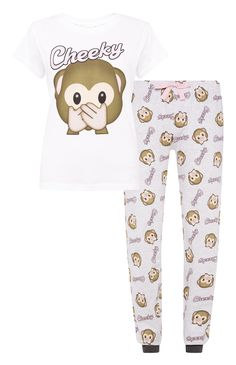 Ensemble de pyjama à motif singes Cute Pjs, Cute Pajamas, Girls Pajamas, Cute Sleepwear, Lingerie Sleepwear, Nightwear, Kinds Of Clothes, Clothes For Women, Pajama Set