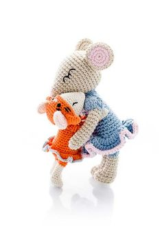 Amigurumi Parent and Baby Animals Crochet Pattern Mouse