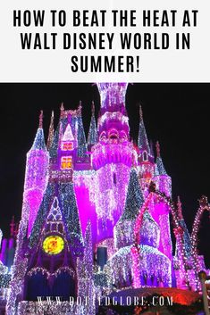 How to stay cool at Walt Disney World in the summer | Tips for beating the heat at Disney in summer | Walt Disney World in the summer | Keeping kids cool at Walt Disney World | WDW summer vacation | Disney travel | surviving Disney world in the summer | tips to stay cool at Disney #waltdisneyworld #disneysummer #disneyworldsummer