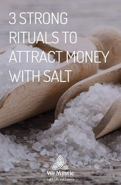 3 strong rituals to attract money with salt - WeMystic If your purpose is to attract money with salt, you have to necessarily use sea salt and choose one (or all) of this 3 rituals. Find out which are they and don't forget to open your mind for abundance. Powerful Money Spells, Money Spells That Work, Good Luck Spells, Spells For Beginners, Money Magic, Money Jars, Attract Money, Herbal Magic, Magick Spells