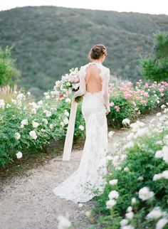 Photography: Jose Villa Photography - josevillablog.com Wedding Dress: Inbal Dror - www.inbaldror.co.il/en   Read More on SMP: http://www.stylemepretty.com/2016/02/29/dreamy-lilac-blush-wedding-inspiration/