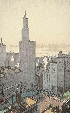"Japanese Art Print ""New York (Niyu Yoruku)"" from the American Series by Yoshida Hiroshi. Shin Hanga and Art Reproductions http://www.amazon.com/dp/B010V0ET5A/ref=cm_sw_r_pi_dp_gczswb0ZC6D1Y"