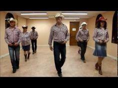 turn it on cowboy line dance - YouTube