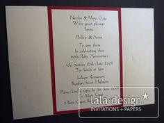 Red wedding anniversary invitation