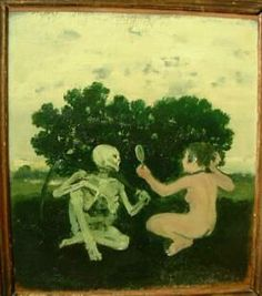 Woman and Skeleton - 1964  12 x 11 Albert York