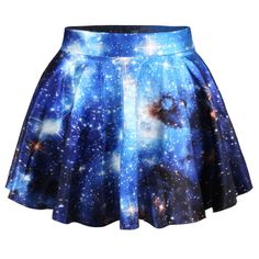 Stretch Waist Pleated Mini Skirt, skater skirt, ball now skirt, galaxy skirt