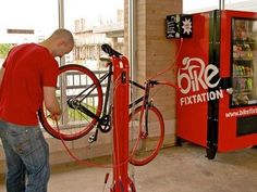 Above Minneapolis' Bike Highway, a Self-Service Repair Kiosk for Cyclists