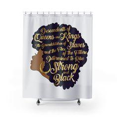 Girl Bathroom Decor, Girl Bathrooms, Bathroom Ideas, Afro Shower Curtain, African Shower Curtain, Modern Shower Curtains, Bathroom Shower Curtains, College Room, Diy Home Repair