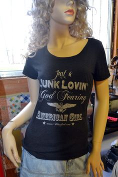 A junkin' t-shirt for all you handy junk queens! www.blessified.com . . . also great signs, jewelry, purses and more!