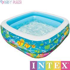 Bể bơi phao INTEX 57471 được thiết kế theo dạng vuông,  được làm trong suốt,  Ánh sáng mặt trời đi qua chúng, tạo ra một phản xạ hấp dẫn trên các nước, giúp tăng cường vẻ đẹp của nước và tạo cho bé cảm giác bể bơi như một ốc đảo nhỏ của chính mình.