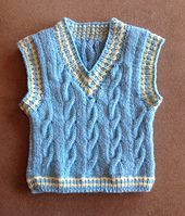 Ravelry: Keene Toddler Vest pattern by Marilyn Losee Knitting Patterns Boys, Baby Girl Patterns, Knitting For Kids, Knitted Baby Cardigan, Knit Baby Sweaters, Crochet Jacket, Baby Boy Vest, Toddler Vest, Skirt Pattern Free