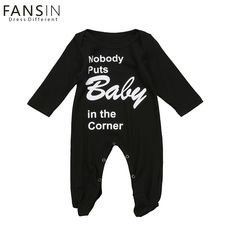 FANSIN Brand Baby Girl Romper Autumn Newborn Baby Boy Cotton Long Sleeve Funny Letter Printed Clothes Jumpsuit Baby Kid Clothing
