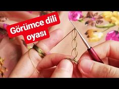 529- GÖRÜMCELER ÇOK KIZACAK🤫 - YouTube Creative Embroidery, Hand Embroidery, Burlap Table Runners, Knit Shoes, Mode Boho, Needle Lace, Knitted Shawls, Baby Knitting Patterns, Knitting Socks