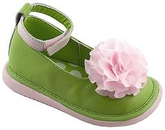 Adorable green shoes with a Pom pom!