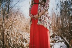 oh, sweet joy!: favorites from our maternity photoshoot  Winter Maxi dress