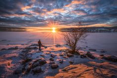 """Symmetry - Single exposure - the sunstars are produced by the lens. The person is me.  <a href=""""http://fineartamerica.com/profiles/olehenrik-skjelstad.html"""">Prints</a>"""