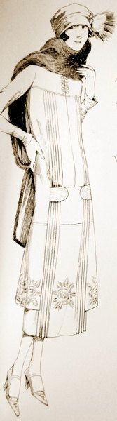 1920s dress pattern. Nice and comfortable                                                                                                                                                                                 More