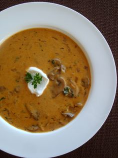 Hungarian Mushroom Soup, sort of