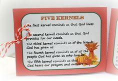 The five kernels of corn legend.
