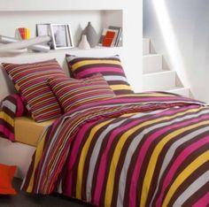 Apportez de la couleur à votre chambre avec cette housse de couette Design Tradilinge
