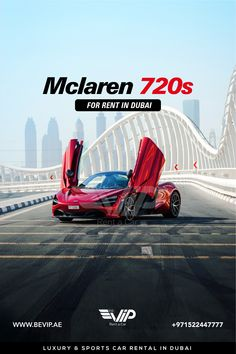 McLaren 720S Spider for rent in Dubai is a car designed to offer enthusiastic drivers an extreme level of road car performance, combining the next level of performance, efficiency, emotion and excitement into a single beautiful, functional whole. Book now for your Dubai Hyper Ride. Call or send a message +971522447777 Sports Car Rental, Dubai Rent, Spider, Book, Beautiful, Spiders, Book Illustrations, Books