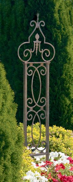 The maidenhead garden trellis has beautiful curving lines.  It would be the perfect focal point of any garden.