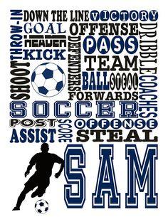 452314160470 Boy s Soccer Gift Soccer Prints Soccer Player Gift