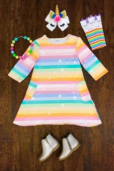 51ee13dd0e76 Pastel Rainbow Dress Toddler Outfits, Toddler Fashion, Little Girl Outfits,  Cute Outfits For