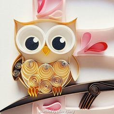Unknown artist - Quilled owl pictures (Searched by Châu Khang)