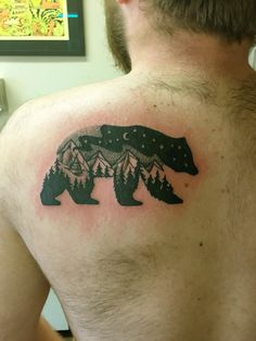 Bear tattoo by Justin Phipps @ East Main Ink, Bozeman Montana