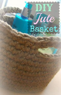 DIY Jute Storage Basket - Free Pattern!    web site  out of wack  7-21-13, can not get code script........  everybody report this == If want this pattern