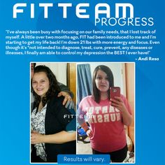 """""""I've always been busy with taking care of our family needs that I forgot about myself. A little over 2 months ago FIT had been introduced to me and I'm starting to get my life back! I'm down 21 lbs with more energy and focus."""""""