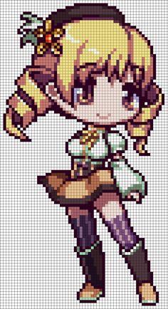 Mami Tomoe - Puella Magi Madoka Magica Perler Pattern by MaddogsCreations