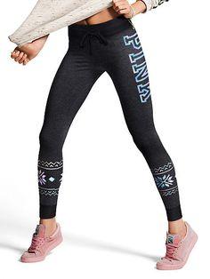 17c2be8e17d70 Campus Leggings - PINK - Victoria's Secret | @giftryapp Mesh Yoga Leggings,  Cute Leggings