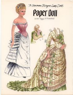 A German Bisque Lady Doll Paper doll