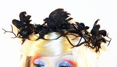 Gothic Fairy Crown with Crows and Black by MadameMerrywidow, $35.00