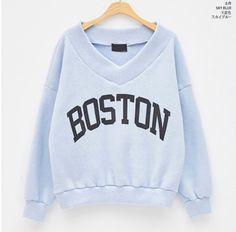 Blue Boston Sweater