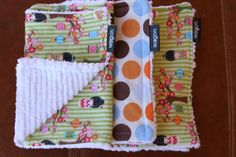 Boutique Baby Girl Burp Cloth Set Set of 3 by CoveredWagonGoods, $18.00