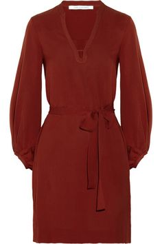 Diane von Furstenberg 'Tanyana' silk-crepe dress. Love the color.